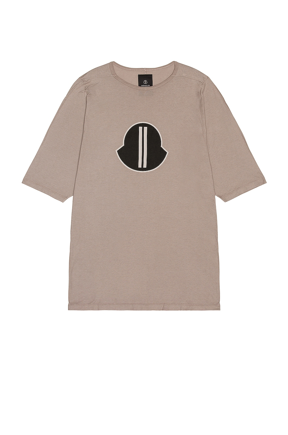 Image 1 of Moncler + Rick Owens Short Sleeve Graphic Tee in Dust