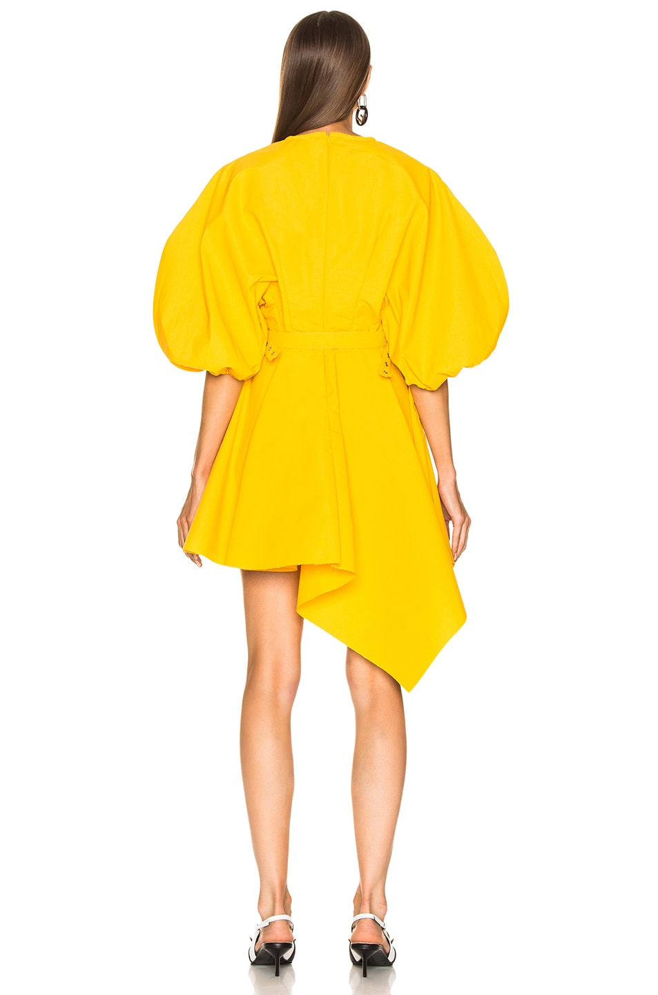 hot sale Marques \ Round Sleeve Dress Yellow