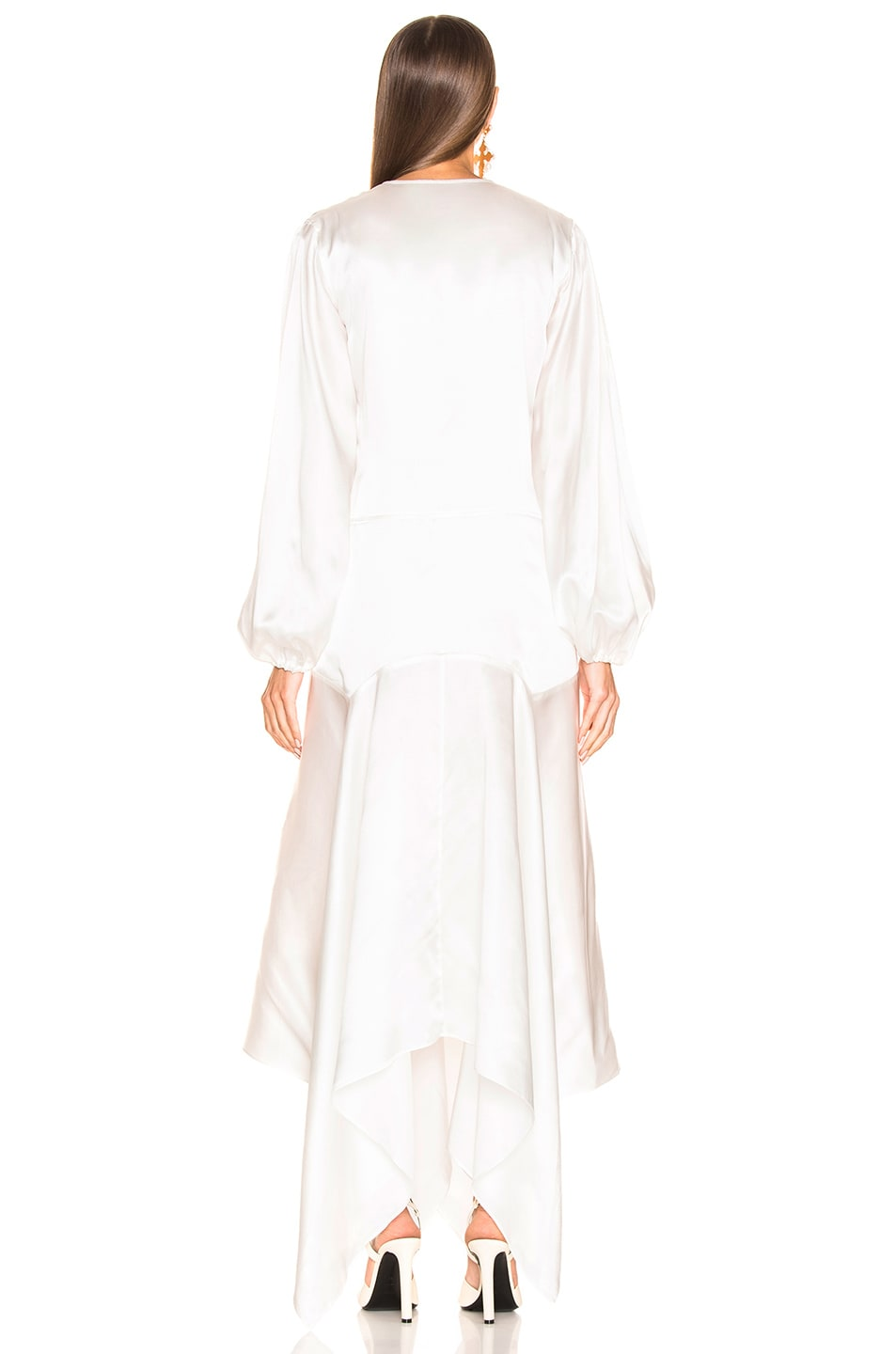 Image 3 of Marques ' Almeida Lace Insert Long Dress in White