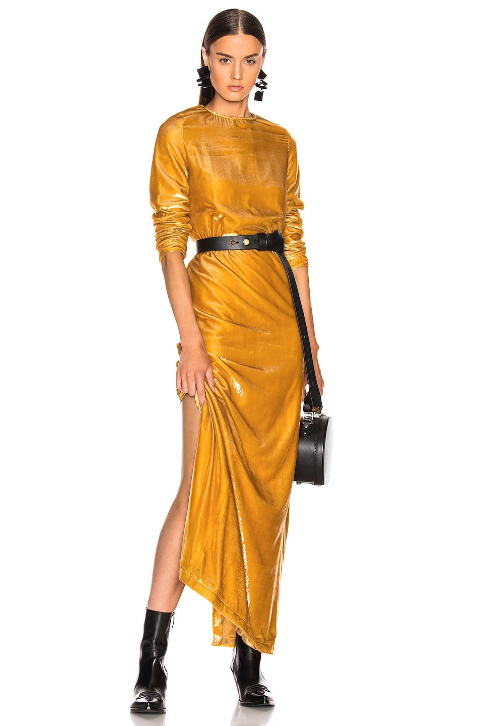 Image 1 of Marques ' Almeida Long Dress in Gold