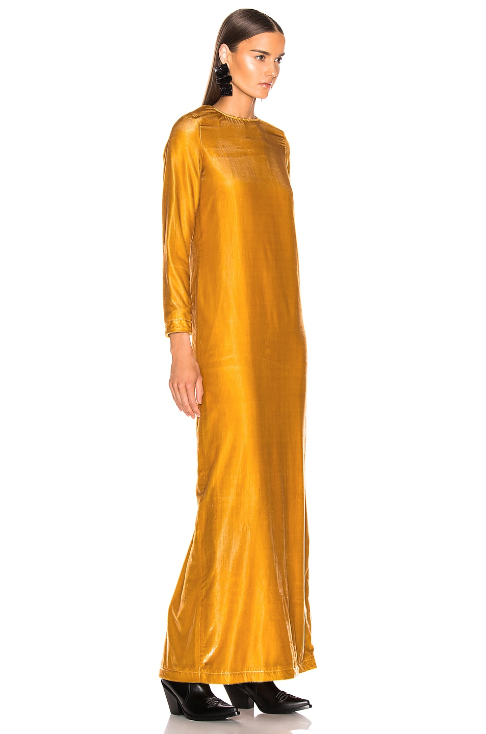 Image 2 of Marques ' Almeida Long Dress in Gold