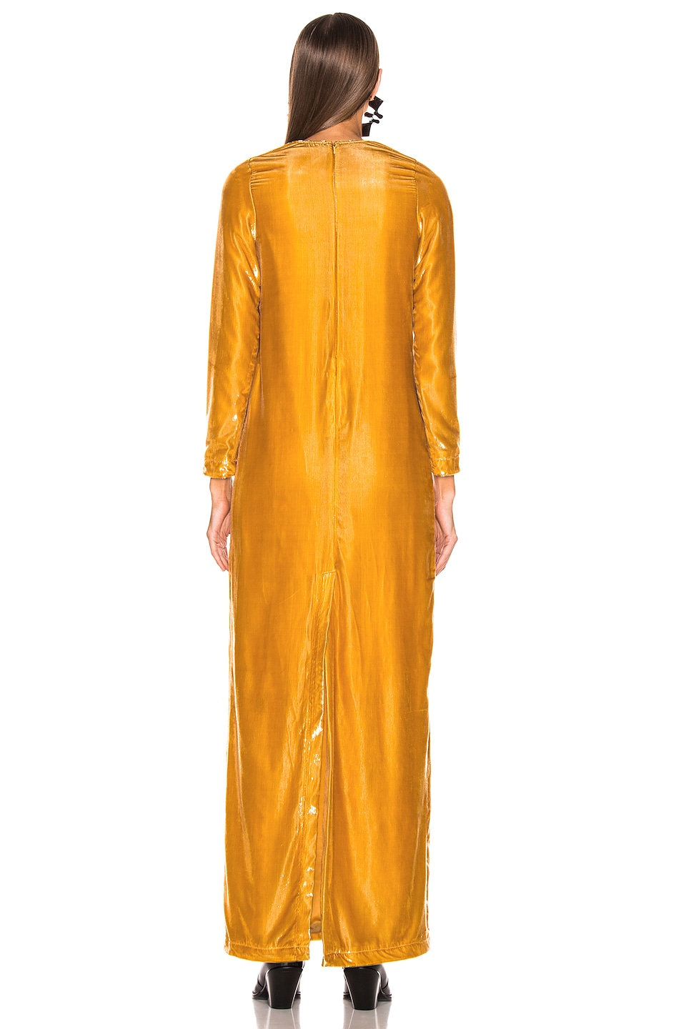 Image 3 of Marques ' Almeida Long Dress in Gold