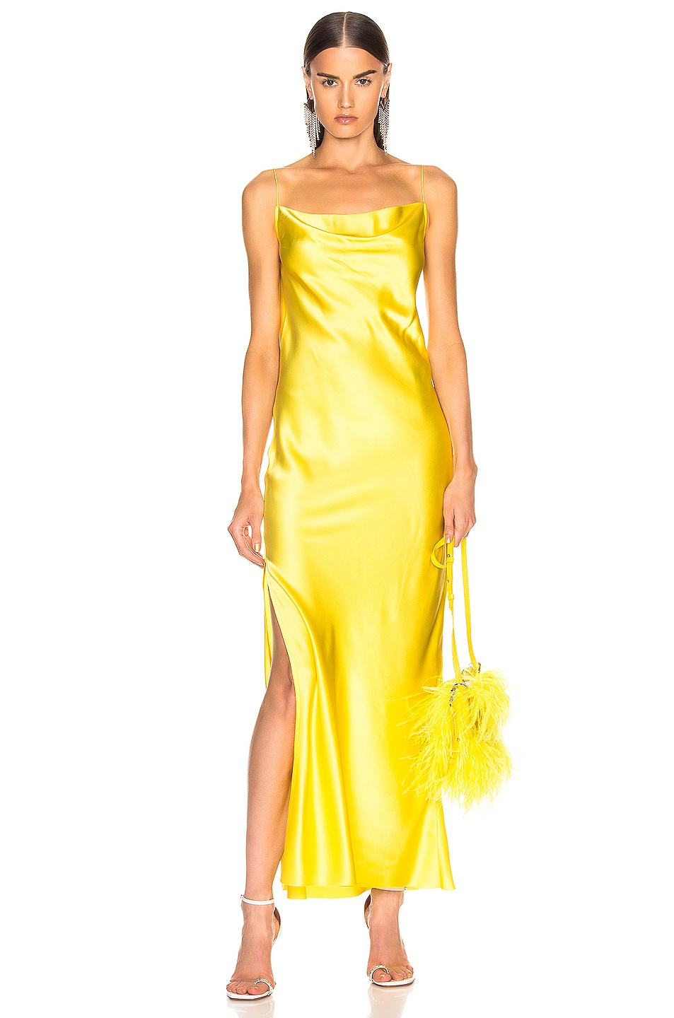 Image 1 of Marques ' Almeida Bias Tube Dress in Yellow