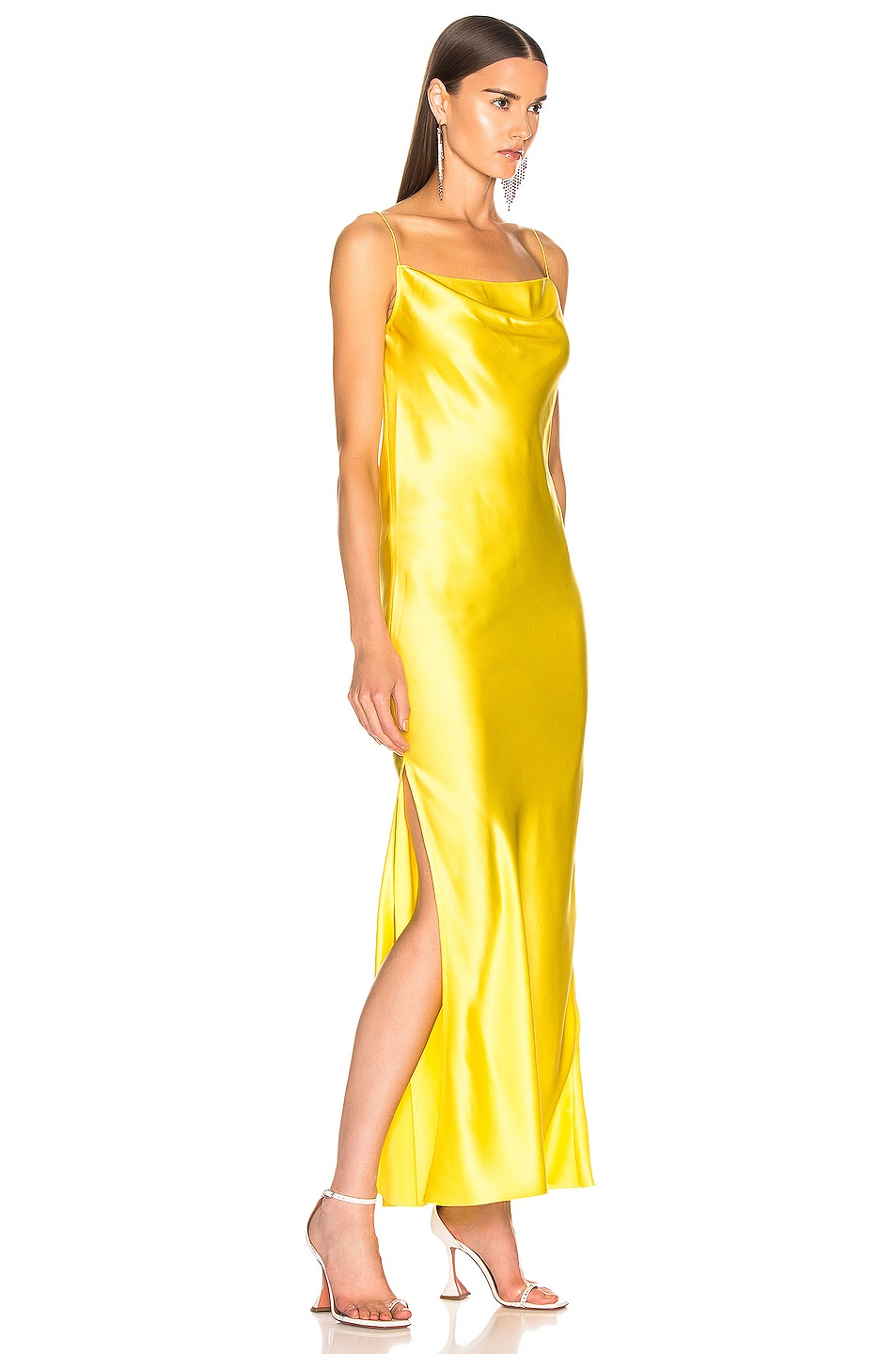 Image 2 of Marques ' Almeida Bias Tube Dress in Yellow