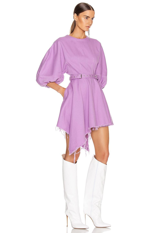 Image 2 of Marques ' Almeida Balloon Sleeve Dress in Purple