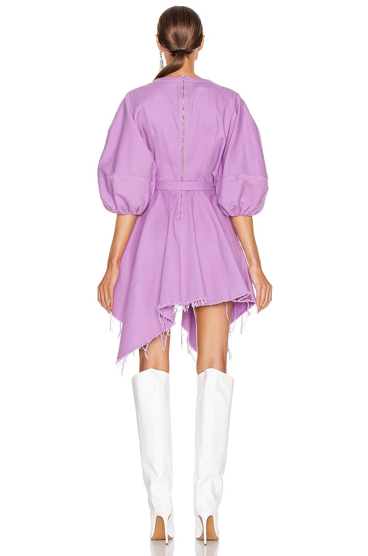 Image 3 of Marques ' Almeida Balloon Sleeve Dress in Purple