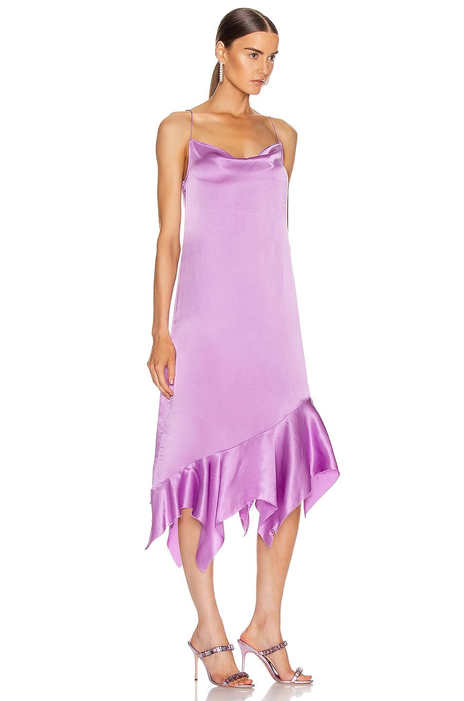 Image 2 of Marques ' Almeida Spaghetti Strap Silk Dress in Purple