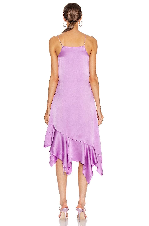 Image 3 of Marques ' Almeida Spaghetti Strap Silk Dress in Purple