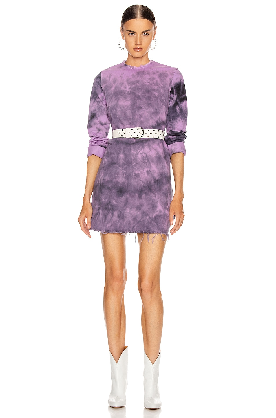 Image 1 of Marques ' Almeida Janis Dress in Purple Tie Dye