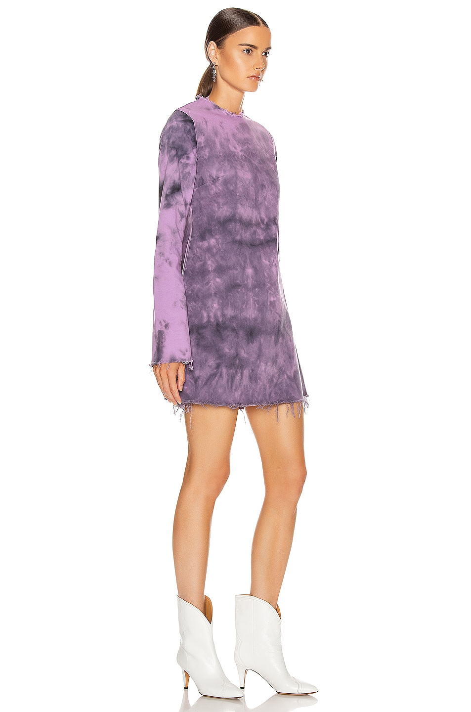 Image 2 of Marques ' Almeida Janis Dress in Purple Tie Dye