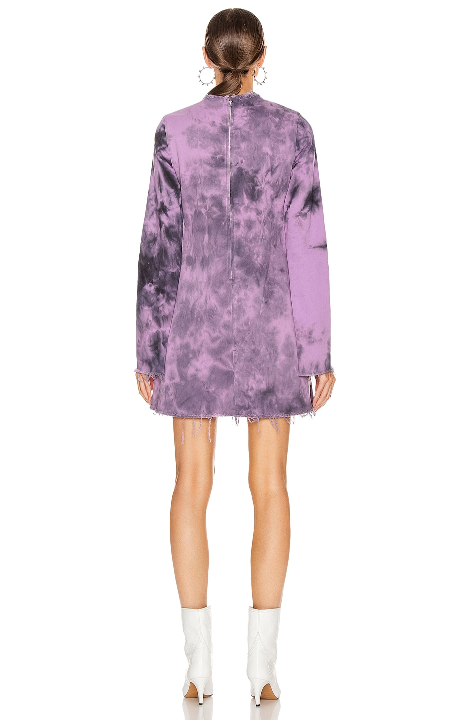 Image 3 of Marques ' Almeida Janis Dress in Purple Tie Dye