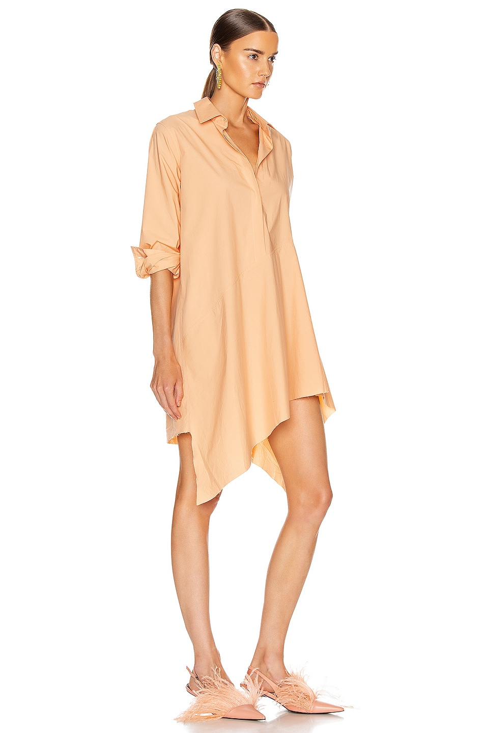 Image 2 of Marques ' Almeida Asymmetric Shirt Dress in Pink