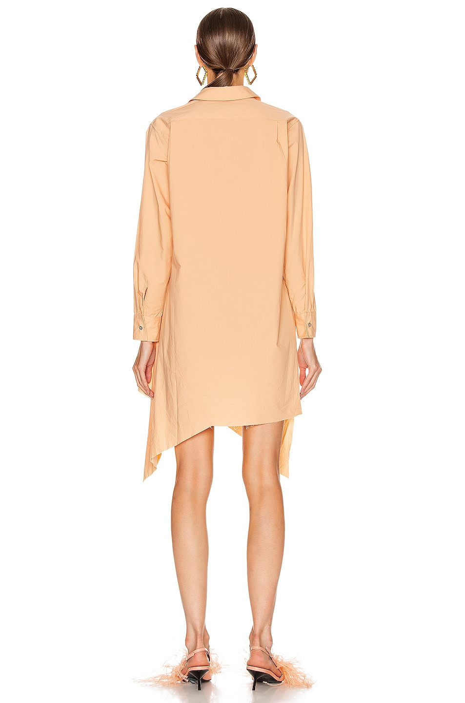 Image 4 of Marques ' Almeida Asymmetric Shirt Dress in Pink