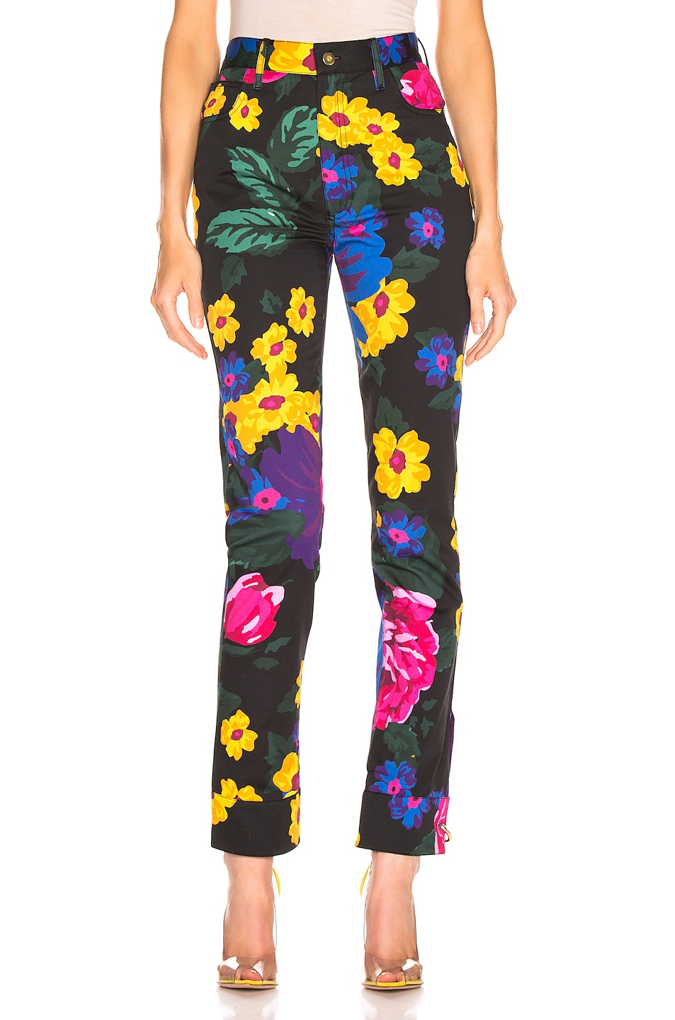 Image 1 of Marques ' Almeida Cuff Pants in Giant Flower