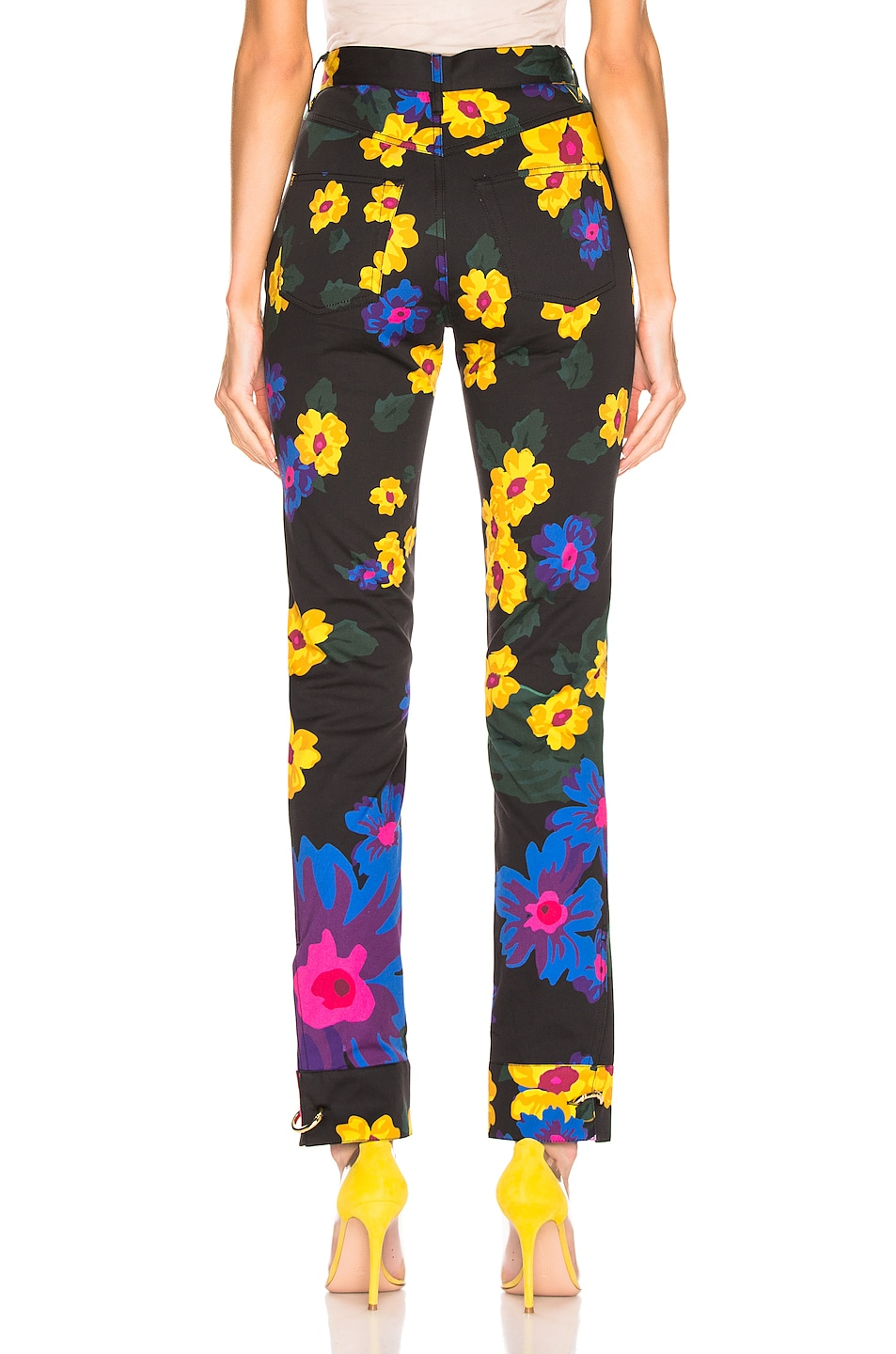 Image 3 of Marques ' Almeida Cuff Pants in Giant Flower