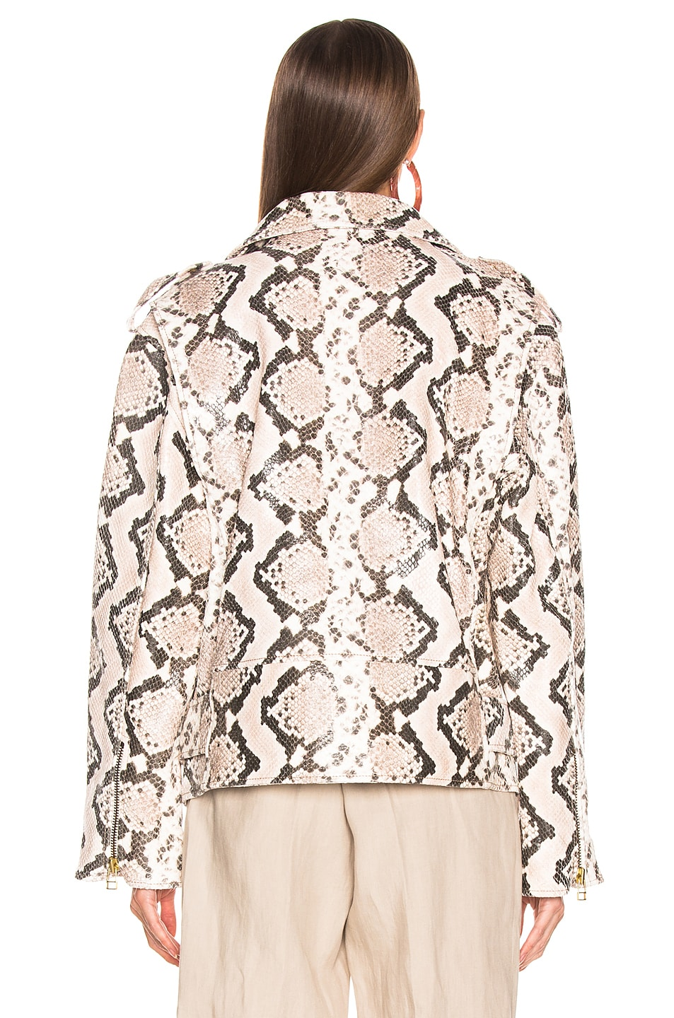 Image 5 of Marques ' Almeida Classic Leather Biker Jacket in Natural