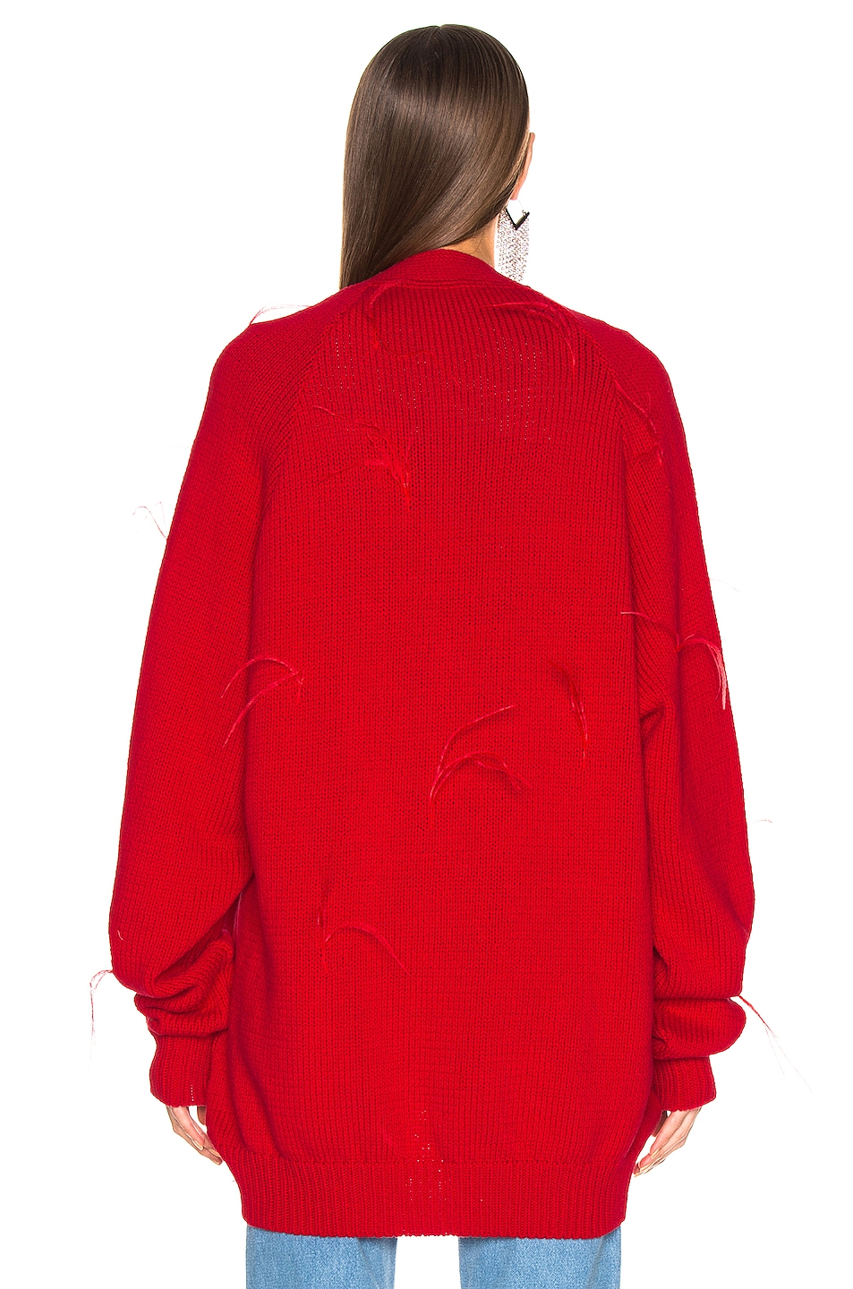 Image 4 of Marques ' Almeida Oversized Cardigan in Red