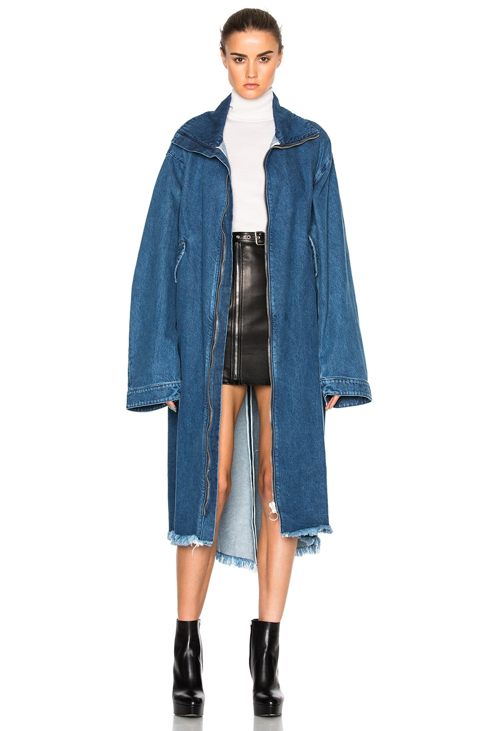 Image 1 of Marques ' Almeida Denim Oversized Coat in Stone Wash