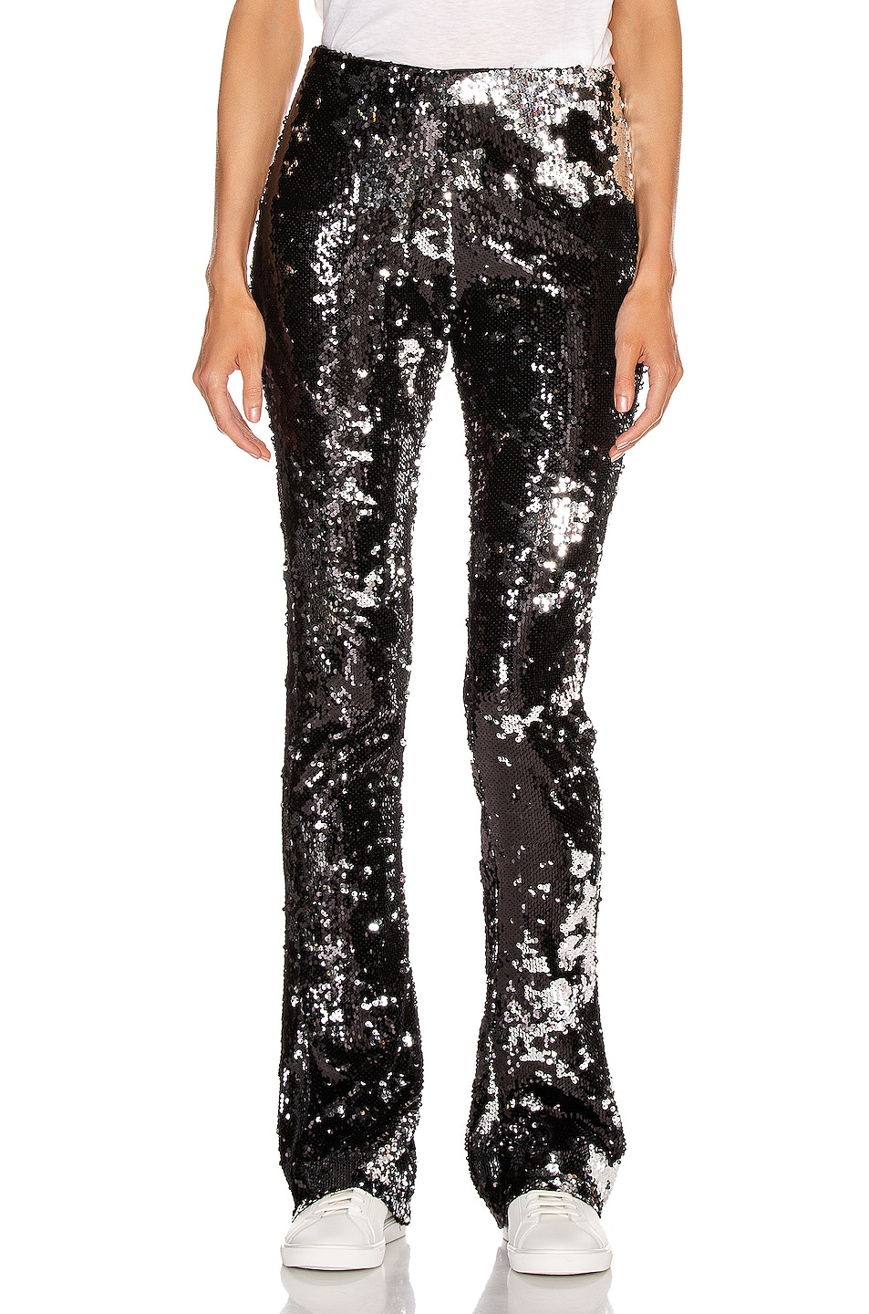 Image 1 of Marques ' Almeida Bootcut Trouser in Black & Silver