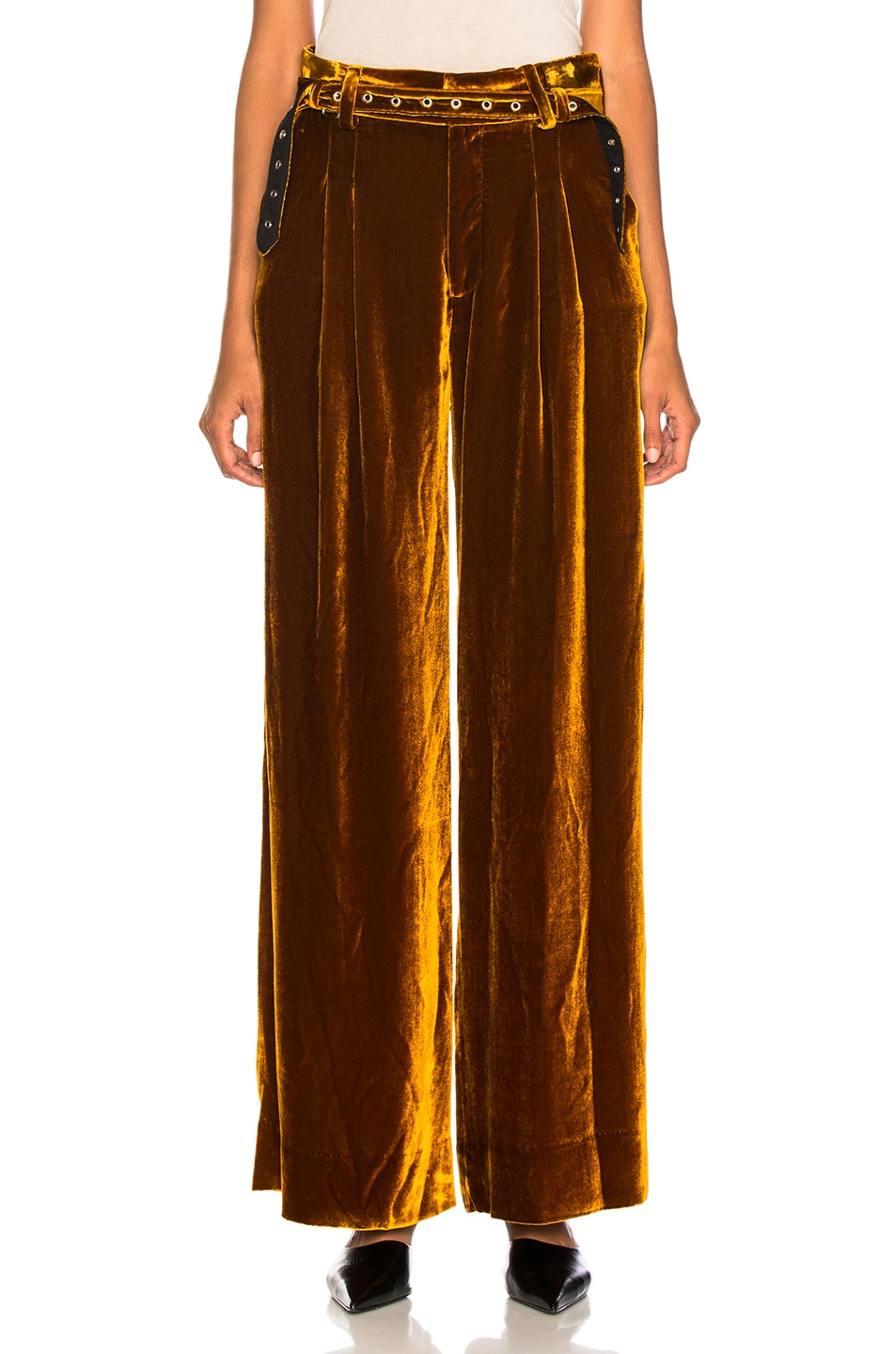 Image 1 of Marques ' Almeida Wide Leg Trouser in Brown