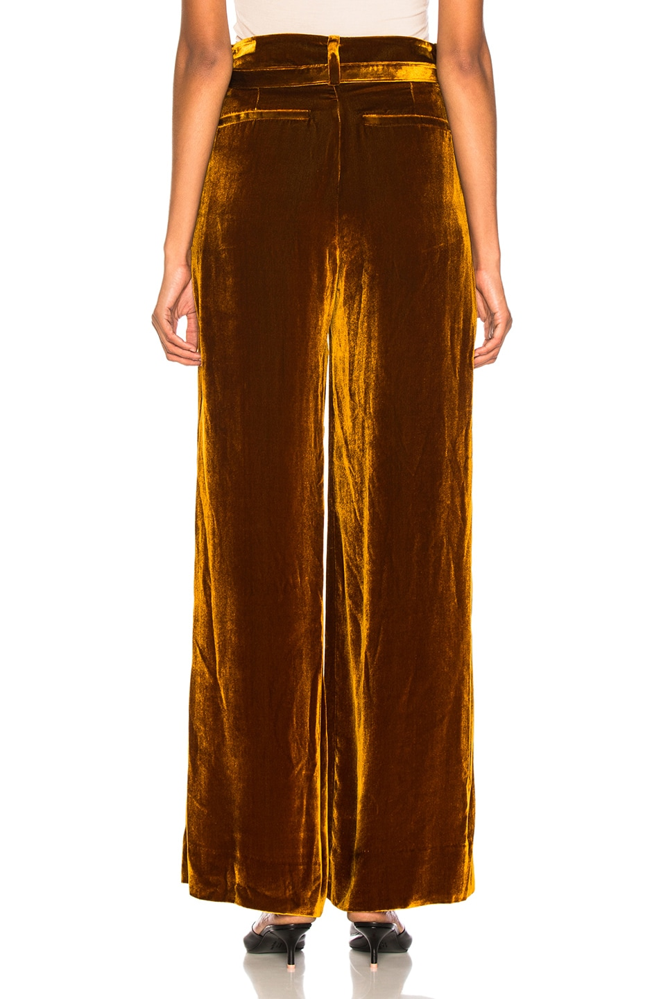 Image 3 of Marques ' Almeida Wide Leg Trouser in Brown