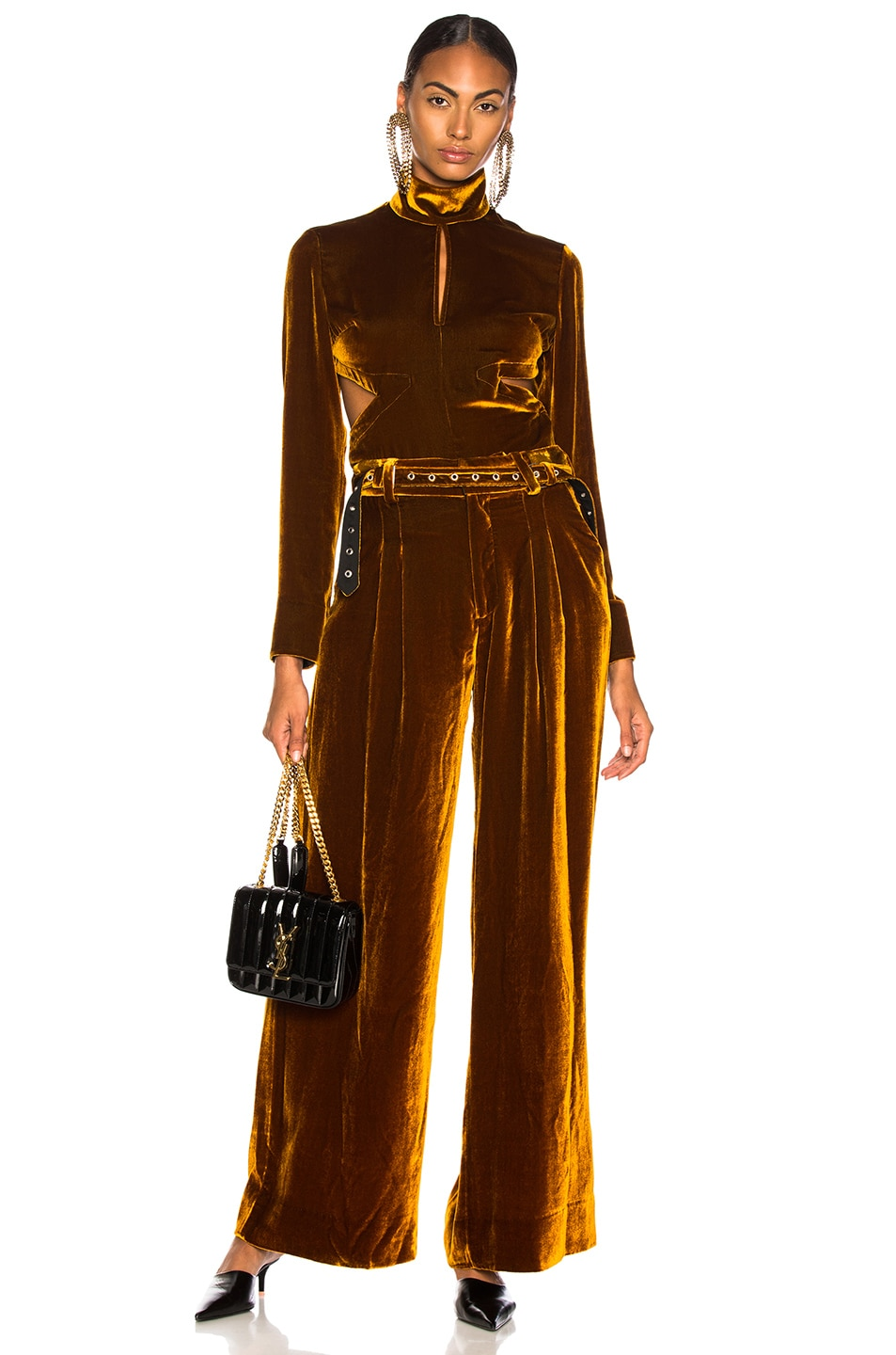 Image 4 of Marques ' Almeida Wide Leg Trouser in Brown
