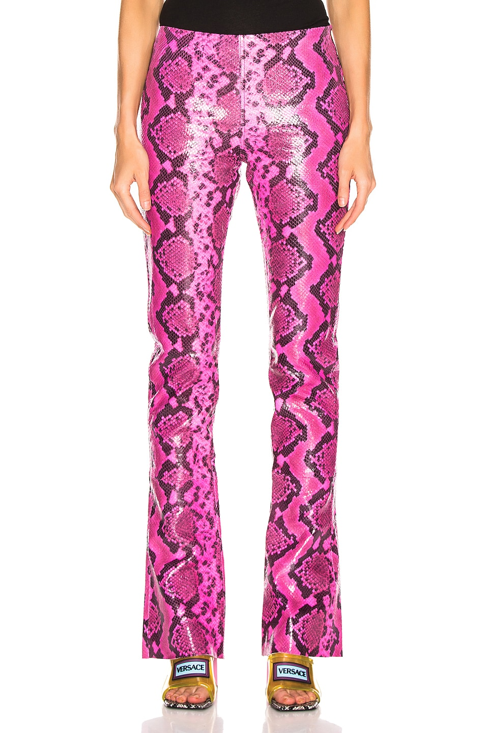 Image 1 of Marques ' Almeida Leather Bootcut Trouser in Pink