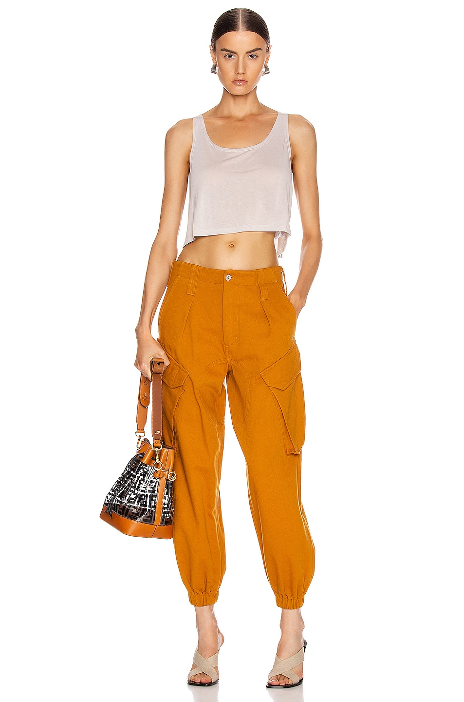Image 4 of Marques ' Almeida Cargo Trousers in Brown