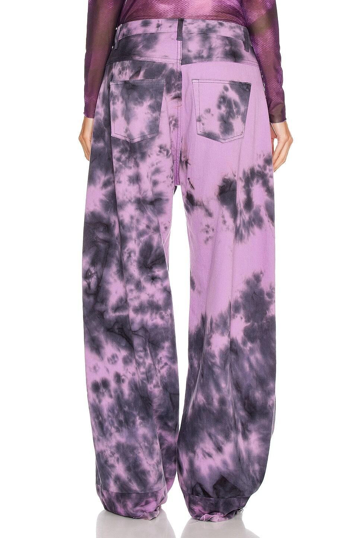 Image 3 of Marques ' Almeida Boyfriend Jeans in Purple Tie Dye