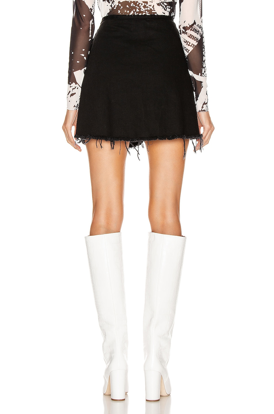 Image 3 of Marques ' Almeida Knotted Mini Skirt in Black