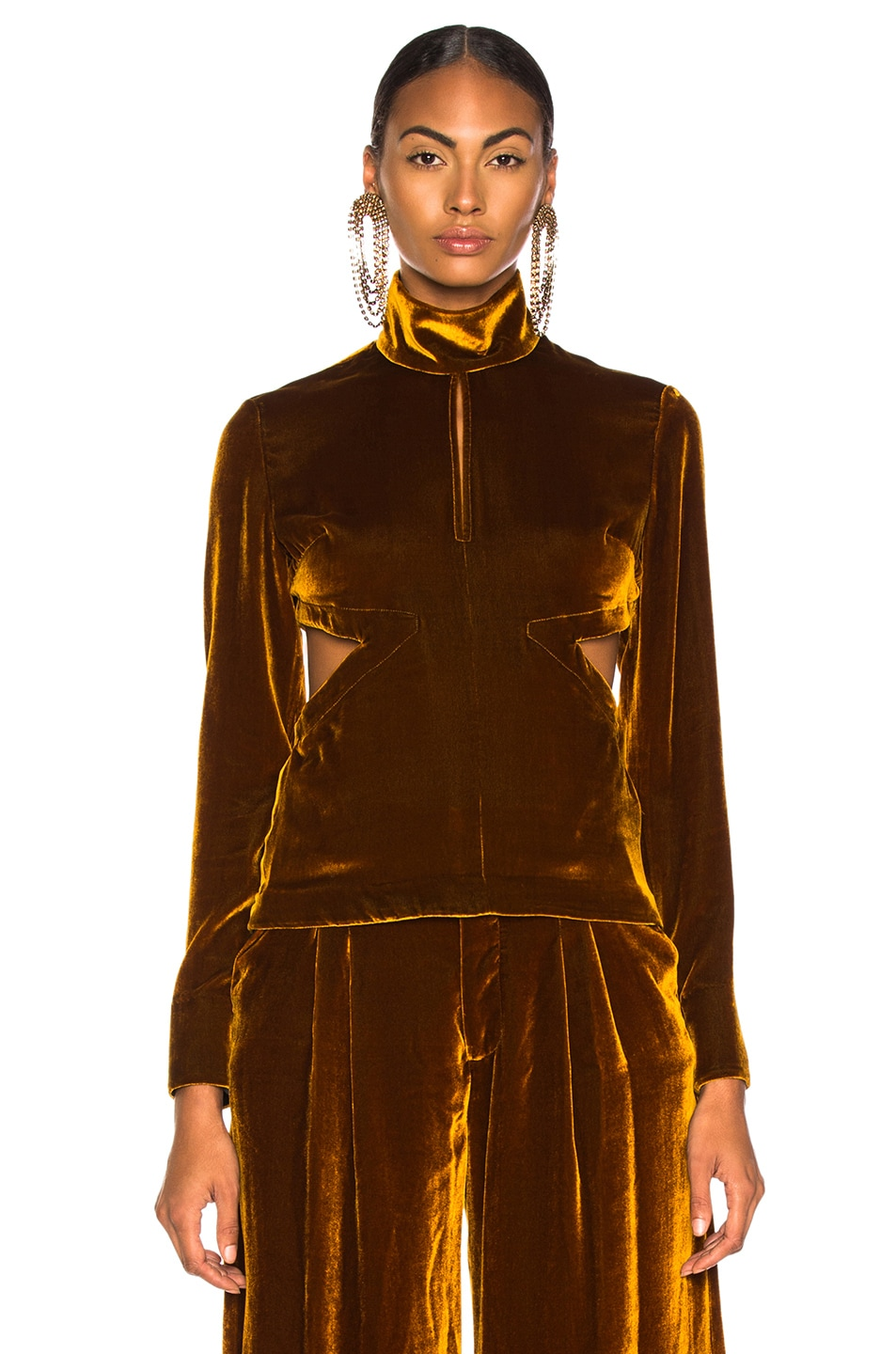 Image 2 of Marques ' Almeida Cut Out Back Top in Brown