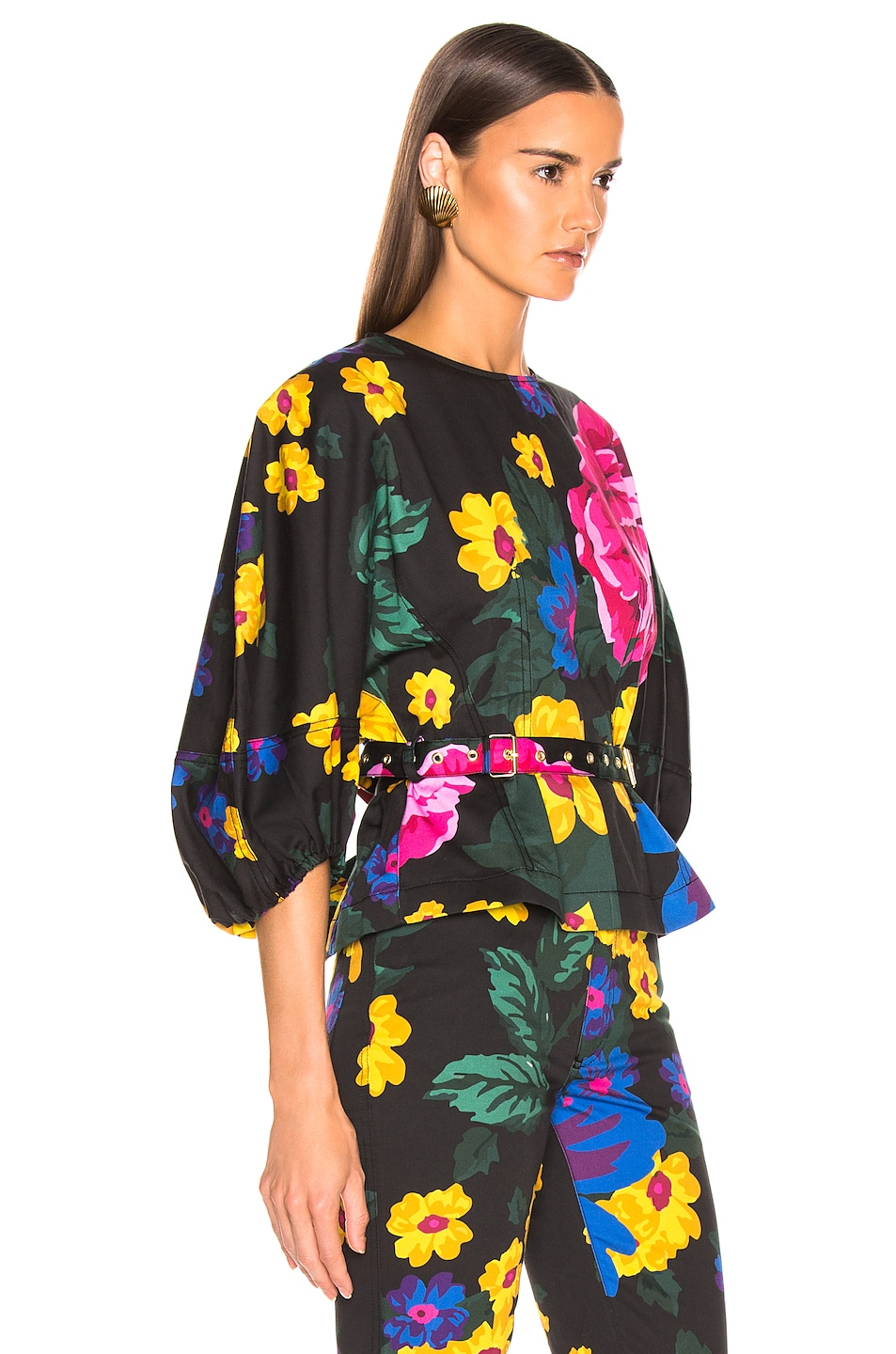 Image 2 of Marques ' Almeida Curved Sleep Top in Giant Flower