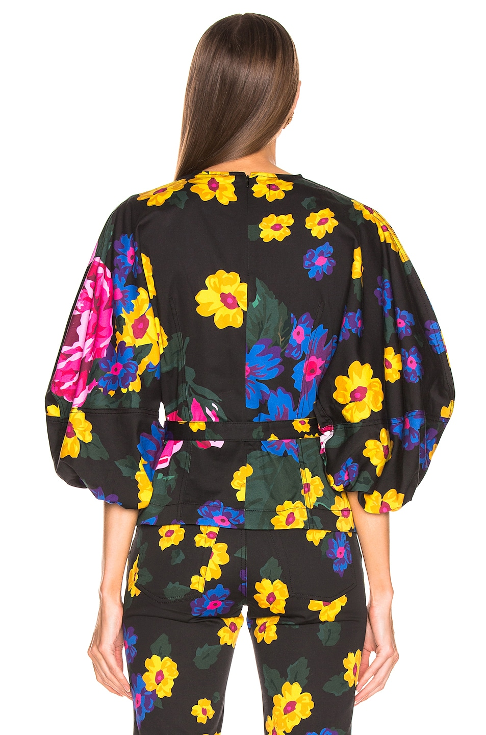 Image 3 of Marques ' Almeida Curved Sleep Top in Giant Flower