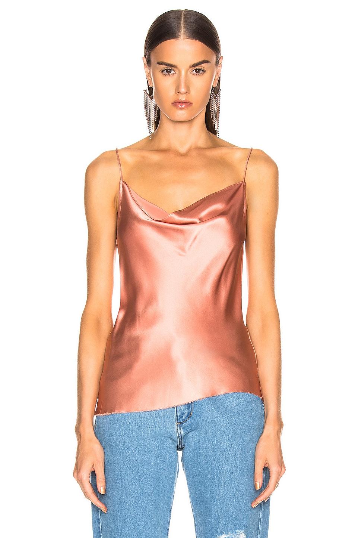 Image 2 of Marques ' Almeida Bias Slip Top in Pink