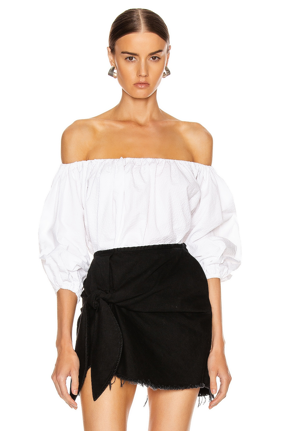 Image 1 of Marques ' Almeida Off Shoulder Top in White