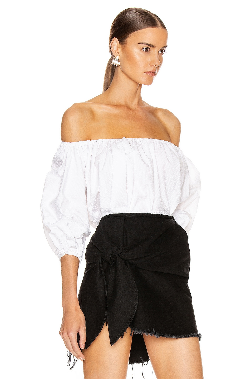Image 2 of Marques ' Almeida Off Shoulder Top in White