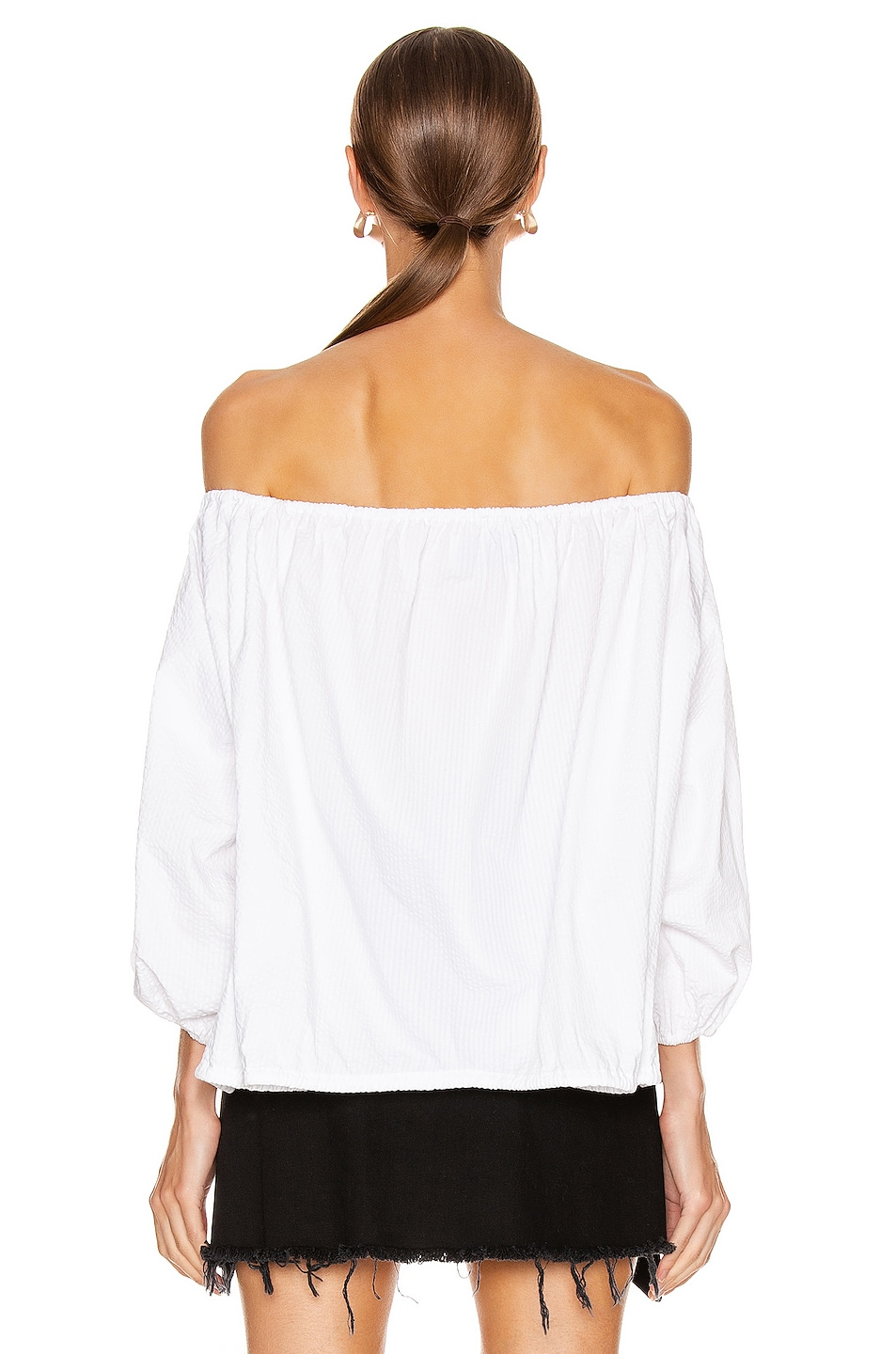 Image 3 of Marques ' Almeida Off Shoulder Top in White