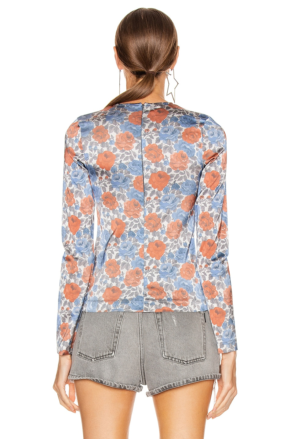 Image 3 of Marques ' Almeida Fitted Stretch Long Sleeve Top in Grey