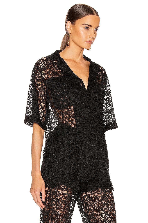 Image 3 of Marques ' Almeida Safari Lace Shirt in Black