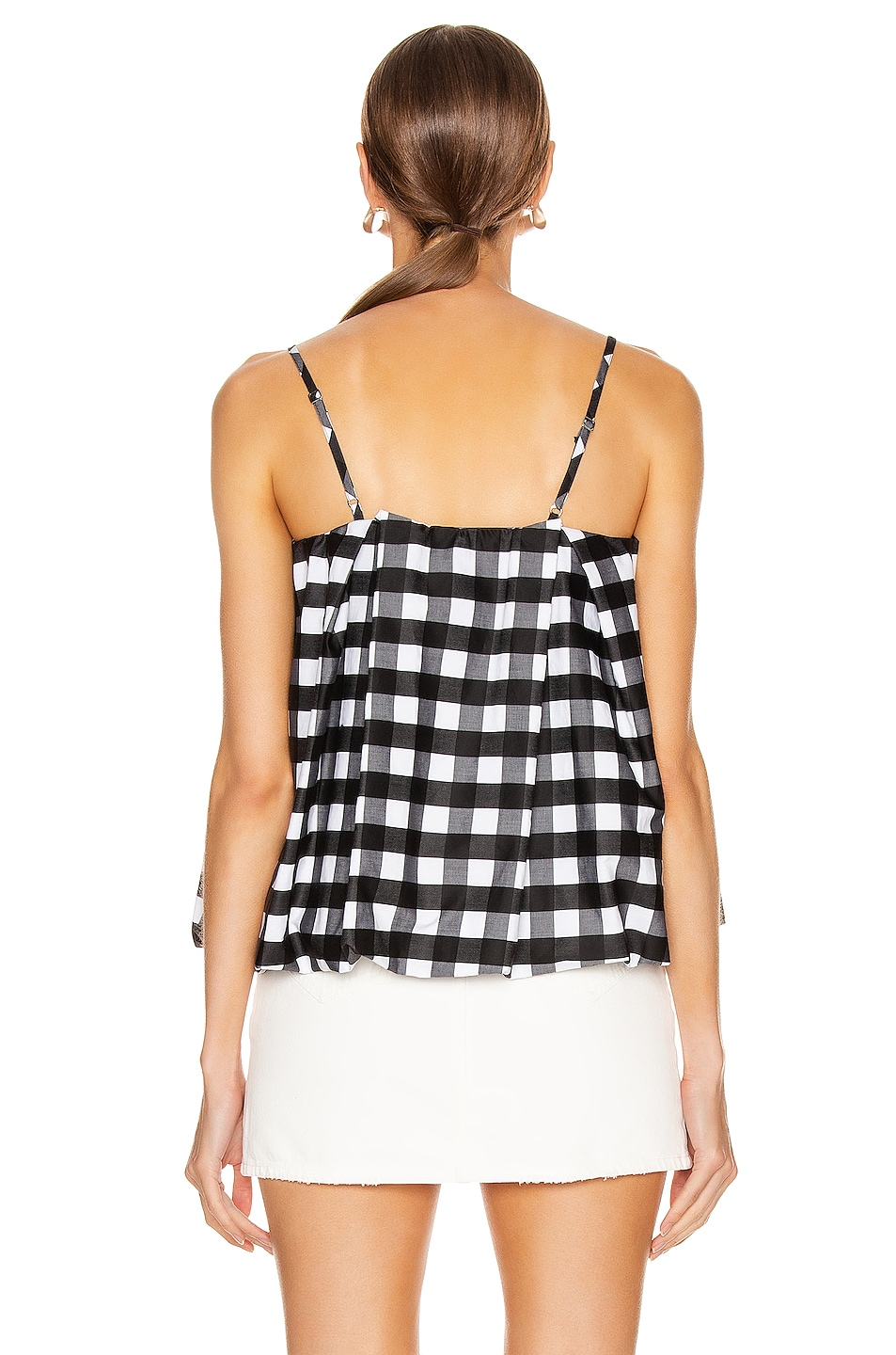 Image 3 of Marques ' Almeida Pleated Slip Top in Black & White