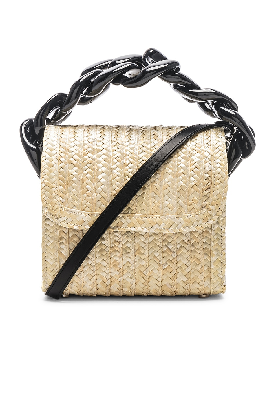 Image 1 of Marques ' Almeida Chain Bag in Straw