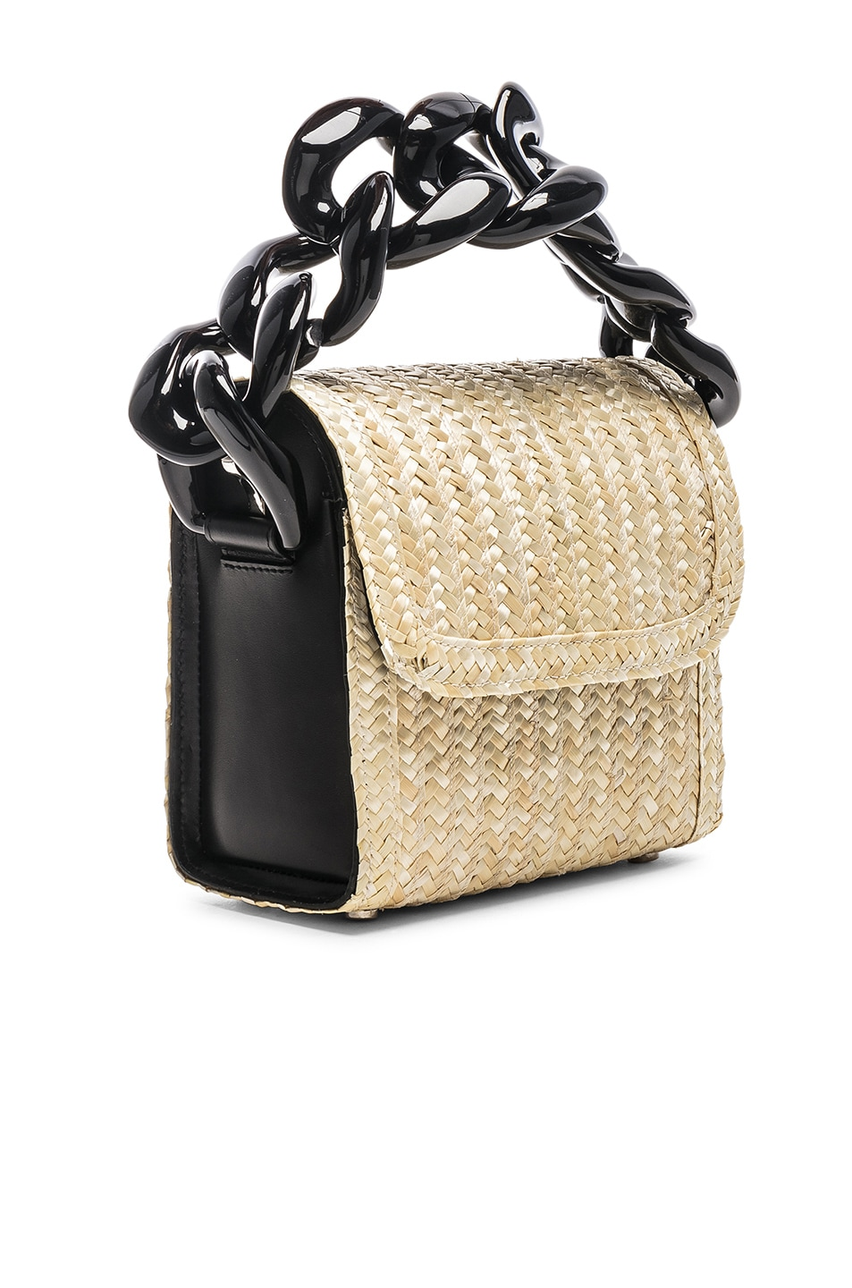 Image 4 of Marques ' Almeida Chain Bag in Straw
