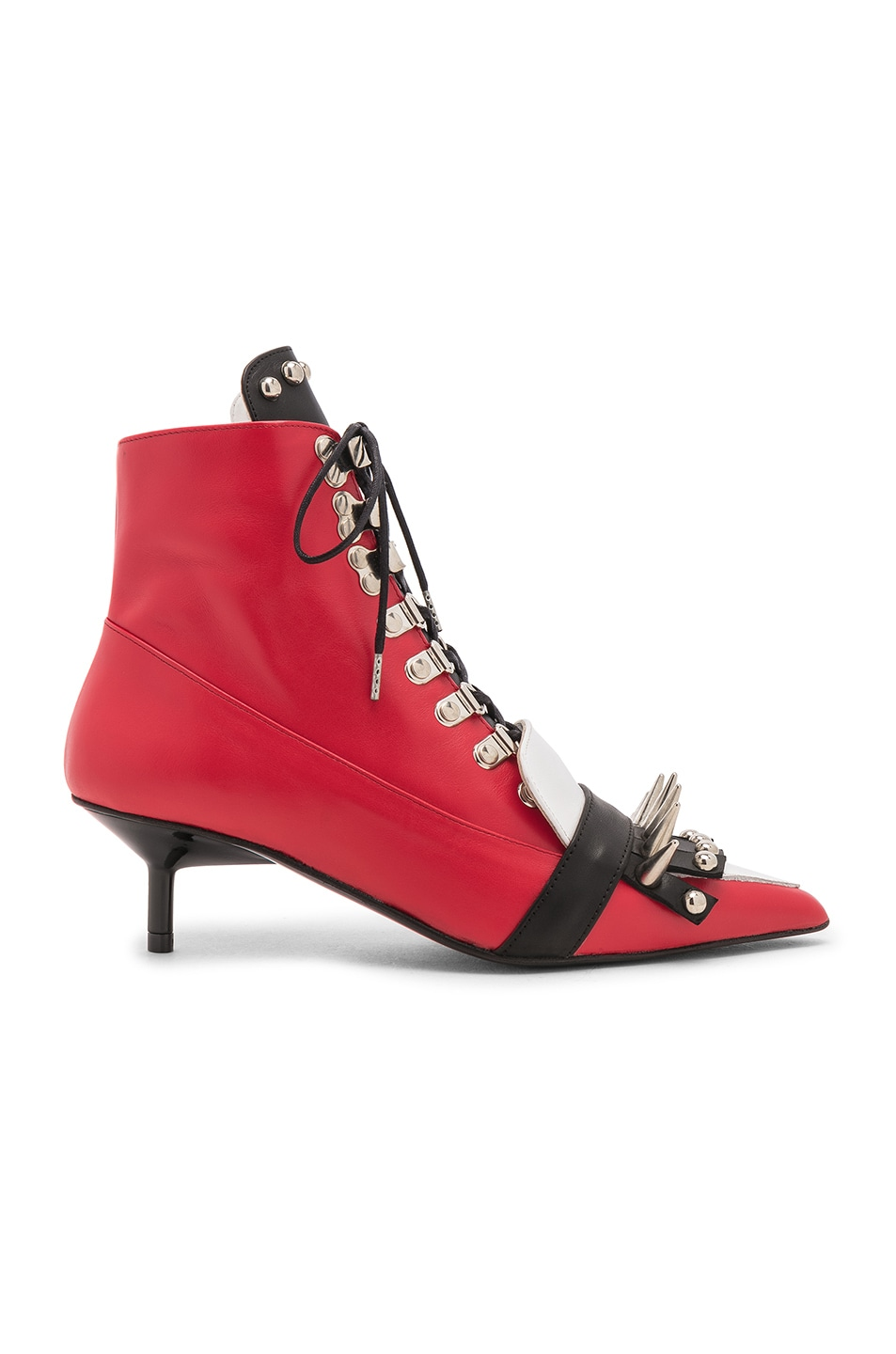 Image 1 of Marques ' Almeida Fitted Spiked Boot in Red & White