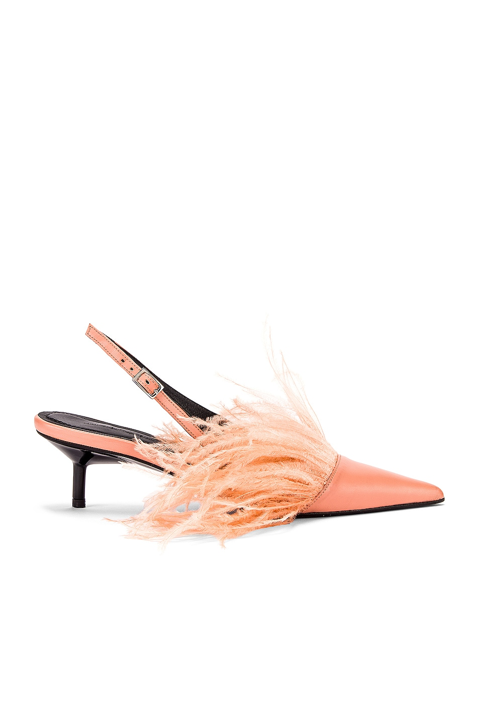 Image 1 of Marques ' Almeida Feather Slingback in Pink