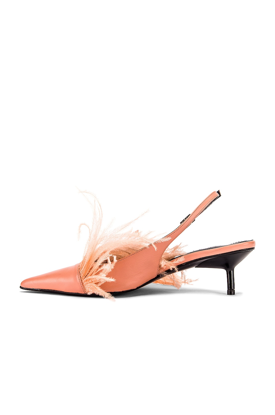 Image 5 of Marques ' Almeida Feather Slingback in Pink