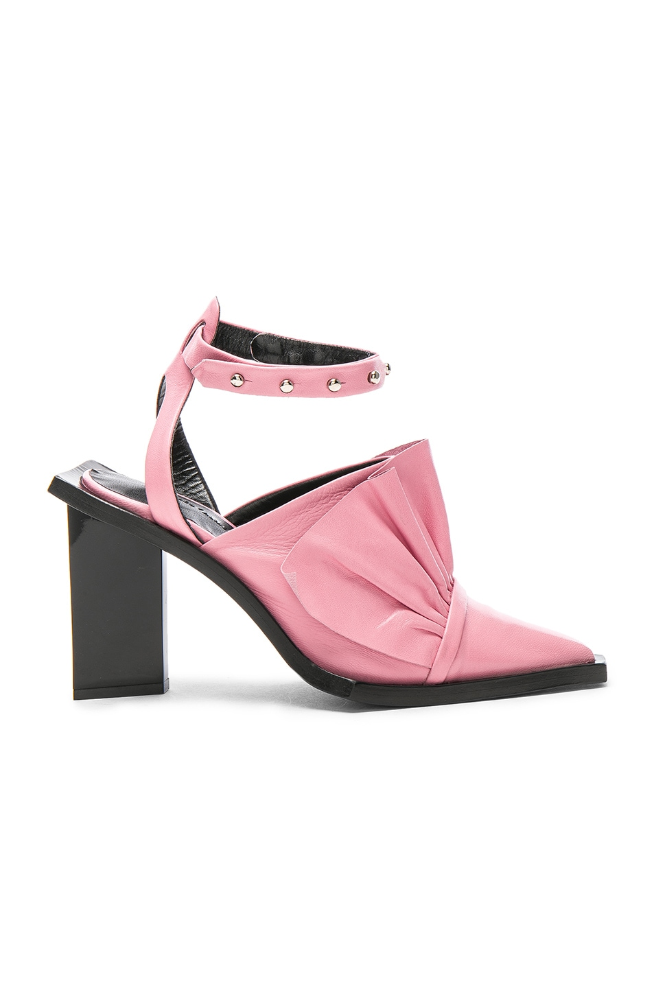 Image 1 of Marques ' Almeida Point Frill Leather Heels in Pink