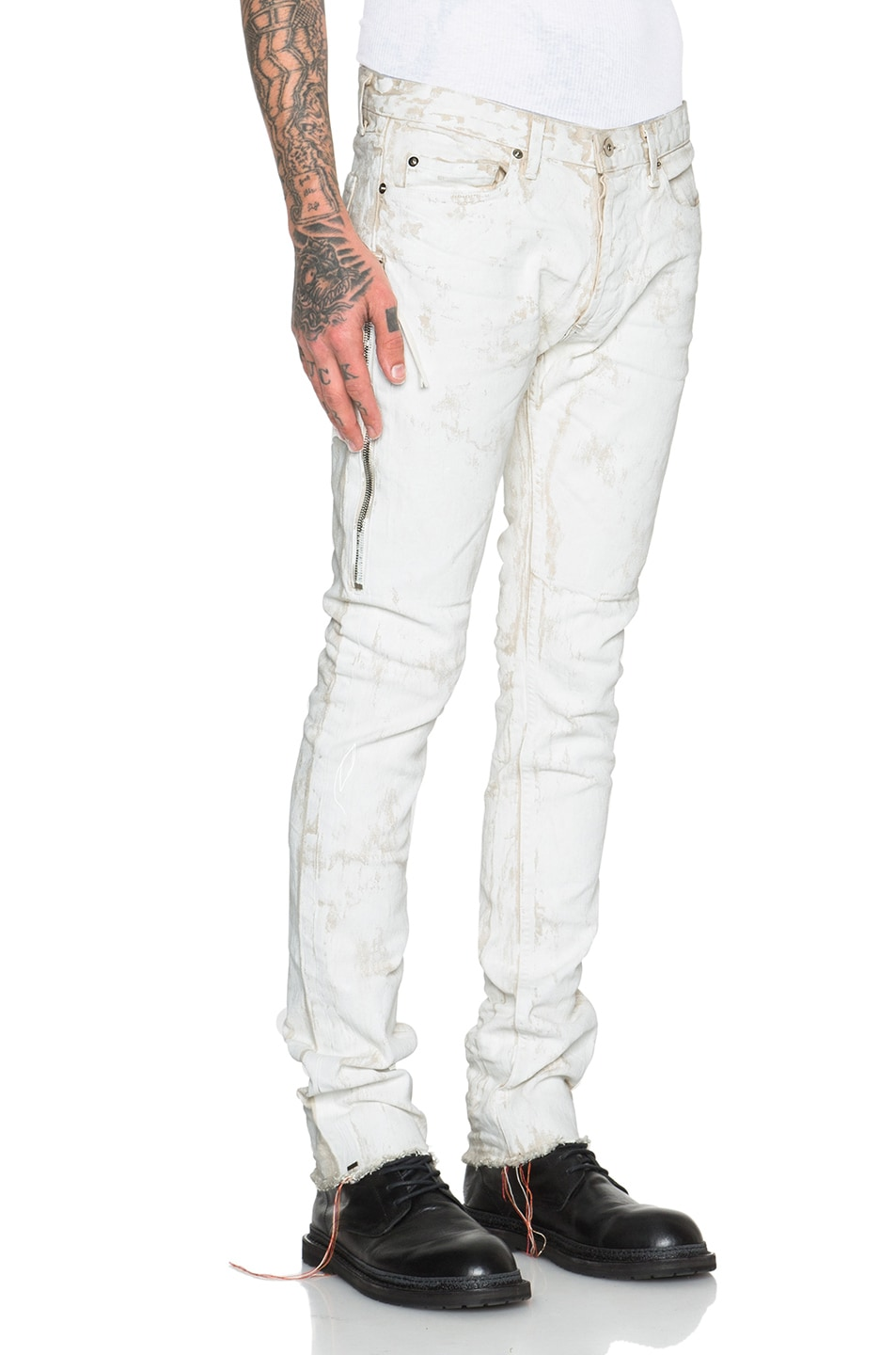 Image 3 of Mr. Completely White Jeans in White Clay in White