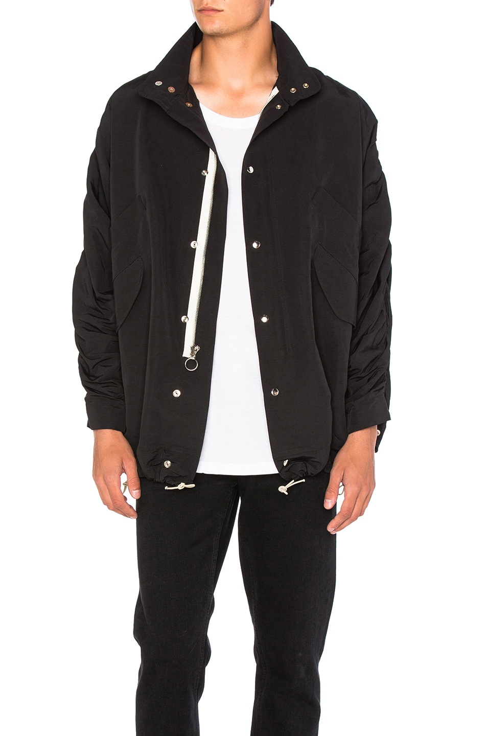 Image 1 of Mr. Completely Cropped Military Parka in Black