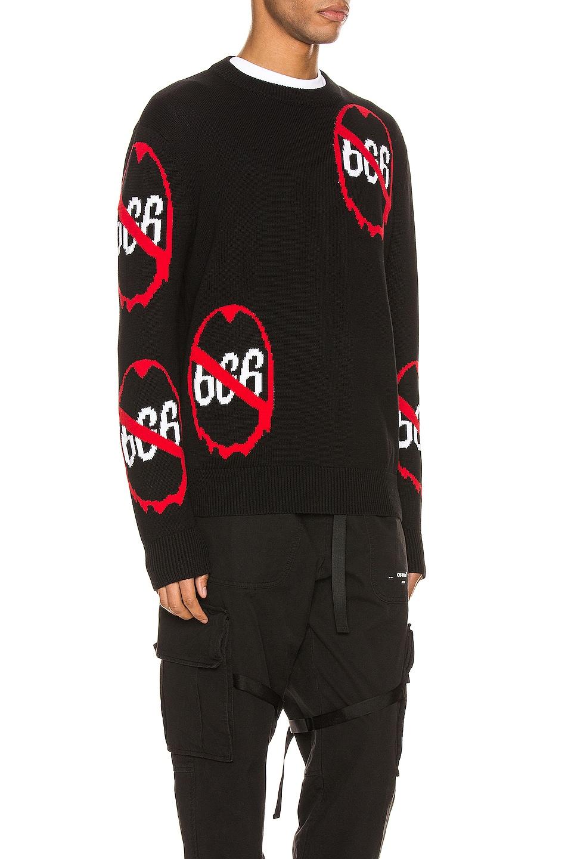 Image 2 of Who Decides War by Ev Bravado Anti 666 Knit Pullover in Black