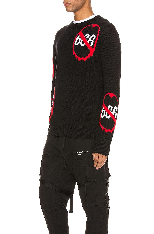 Image 3 of Who Decides War by Ev Bravado Anti 666 Knit Pullover in Black